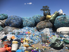 Recyclables collected at the roadside in Dodoma, Tanzania
